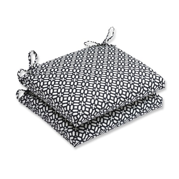 In the Frame Indoor/Outdoor Dining Chair Cushion (Set of 2) by Pillow Perfect