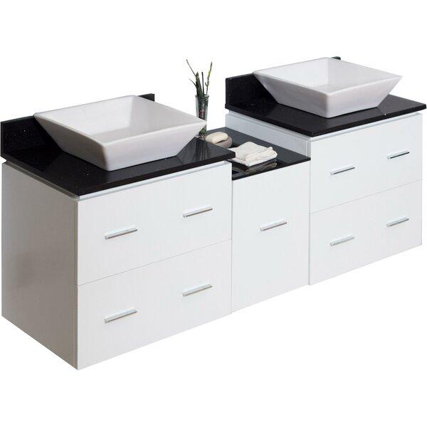 Kaplan Wall Mount 62 Double Bathroom Vanity Set by Royal Purple Bath Kitchen