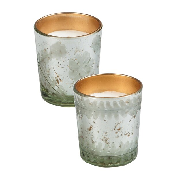 Etched Glass Scented Jar Candle (Set of 2) by Winston Porter