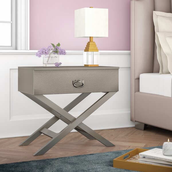 Trista 1 Drawer Nightstand by Mercer41