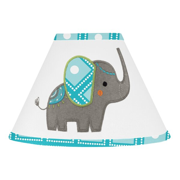 Mod Elephant 10 Cotton Empire Lamp Shade by Sweet Jojo Designs