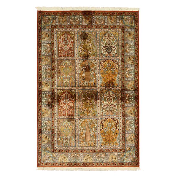 Valenzano Hand-Knotted Beige Area Rug by Astoria Grand