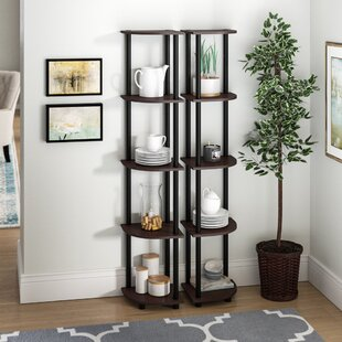 Multipurpose Display Corner Bookcase