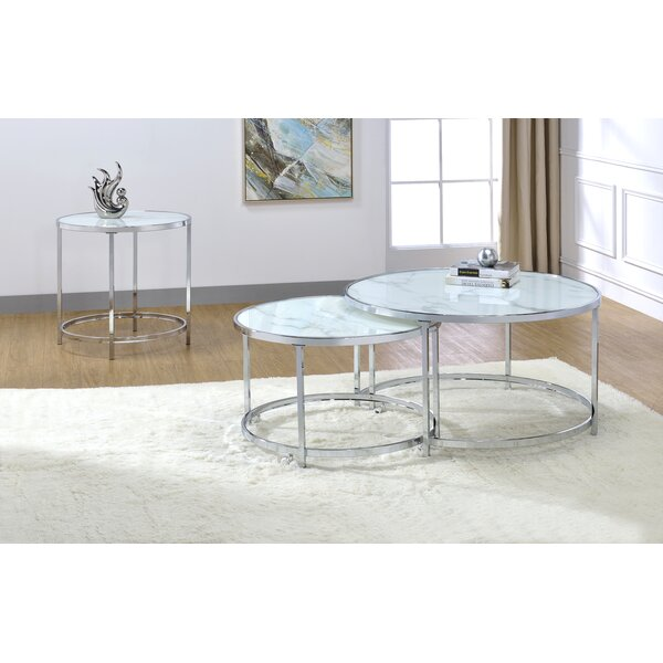 Rayne 3 Piece Coffee Table Set by Steve Silver Furniture Steve Silver Furniture