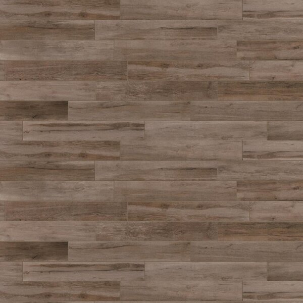 Travel 6 x 48 Porcelain Wood Look Tile in West Brown by Travis Tile Sales