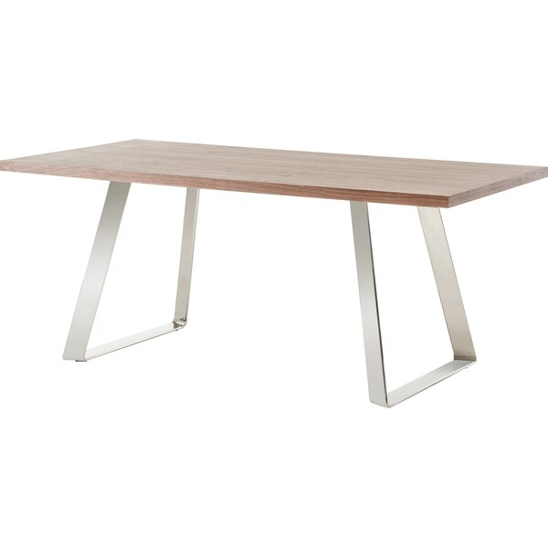 Camron Modern Steel Base Dining Table by Orren Ellis