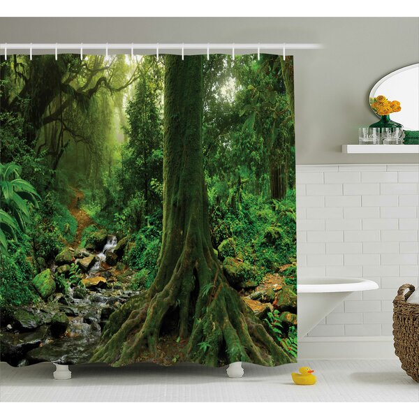 Rain Forest Decor Shower Curtain by East Urban Home