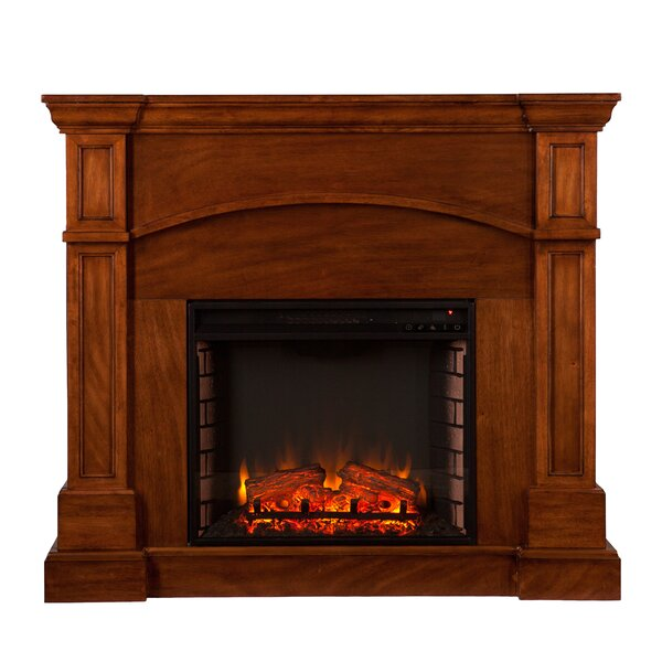 Tuscany Heights Convertible Electric Fireplace by Alcott Hill
