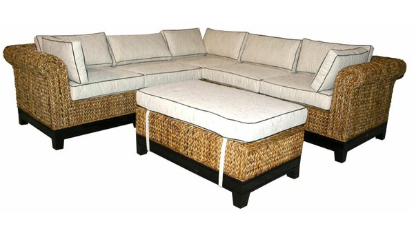 Naples Symmetrical Modular Sectional with Ottoman by Chic Teak