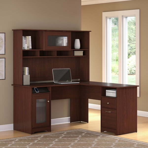 Toledo L-Shaped Executive Desk with Hutch by Red Barrel Studio