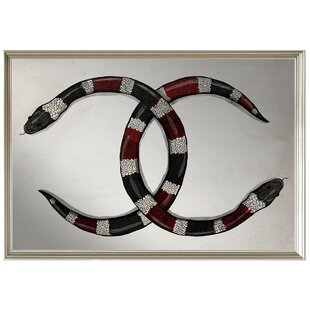 Brayden Studio Taraji Snakes Wall Mirror