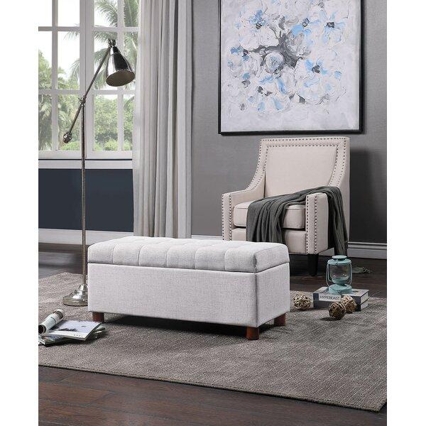 Balaguer Upholstered Flip Top Storage Bench