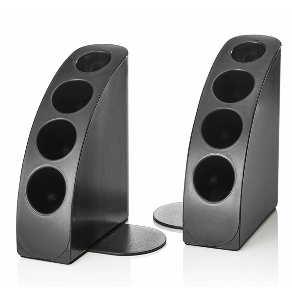 Smart Quarter Bookends (Set of 2) by Symple Stuff