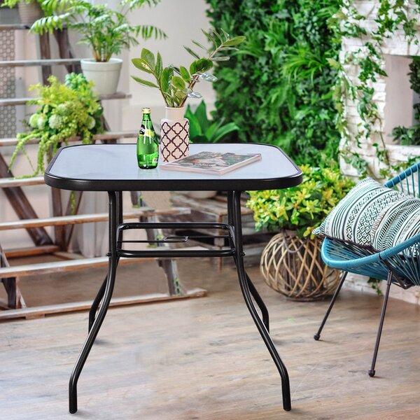 Tsaile Steel Bistro Table by Ebern Designs