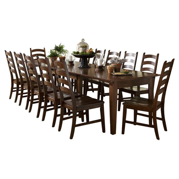 Birchley 13 Piece Extendable Solid Wood Dining Set by World Menagerie