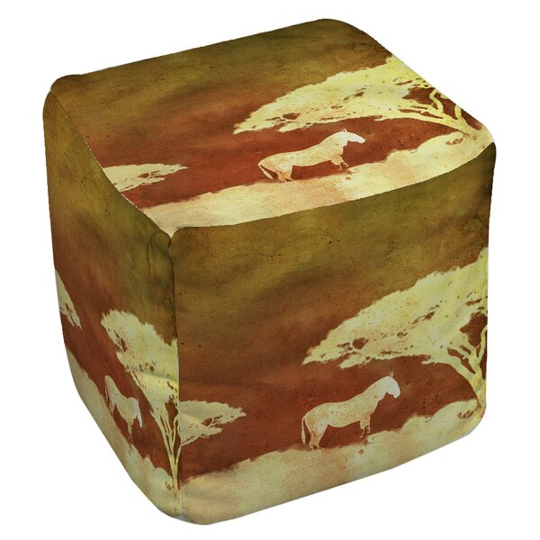 Safari Sunrise 3 Pouf by Manual Woodworkers & Weavers