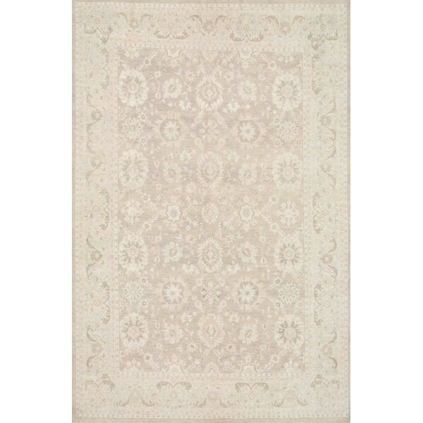 One-of-a-Kind Ferehan Hand-Knotted Light Brown 10' x 15' Wool Area Rug
