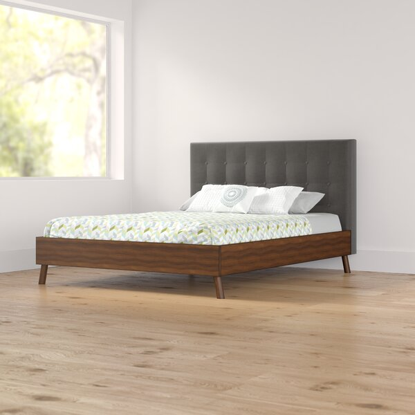 Alaina Upholstered Platform Bed by Foundstone