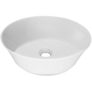 Online Reviews Nautilus Series Vitreous China Circular Vessel Bathroom Sink ByTicor Sinks