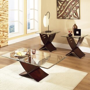 Alexios 3 Piece Coffee Table Set by Wade Logan