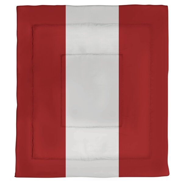 College Stripes Indiana Microfiber Single Reversible Comforter