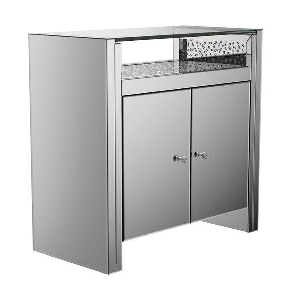 Eakes 2 Door Mirrored Accent Cabinet