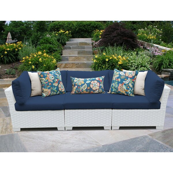 Monaco Patio Sofa with Cushions by TK Classics