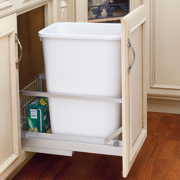 Plastic 8.75 Gallon Pull Out Trash Can by Rev-A-Shelf