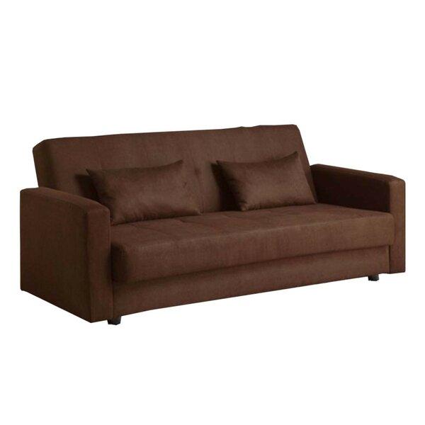 Garrow Microfiber Convertible Sofa by Red Barrel Studio
