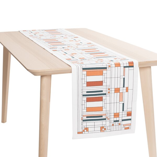 Oak Park Printed Table Runner by Frank Lloyd Wright