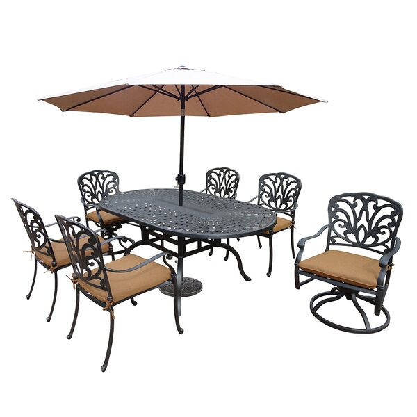 Bosch 7 Piece Dining Set with Cushions by Darby Home Co
