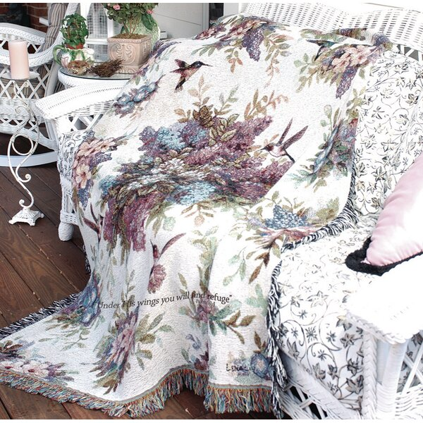 Whisper Wings Verse Tapestry Cotton Throw by Manual Woodworkers & Weavers