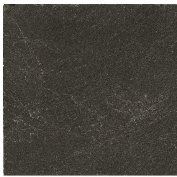 Slate 16 x 16 Field Tile in Midnight Black by Emser Tile