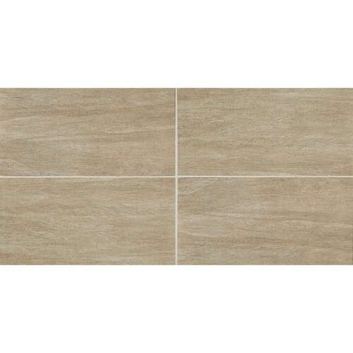 Marin 12 x 12 Porcelain Wood Look Tile in Ashwood by Itona Tile