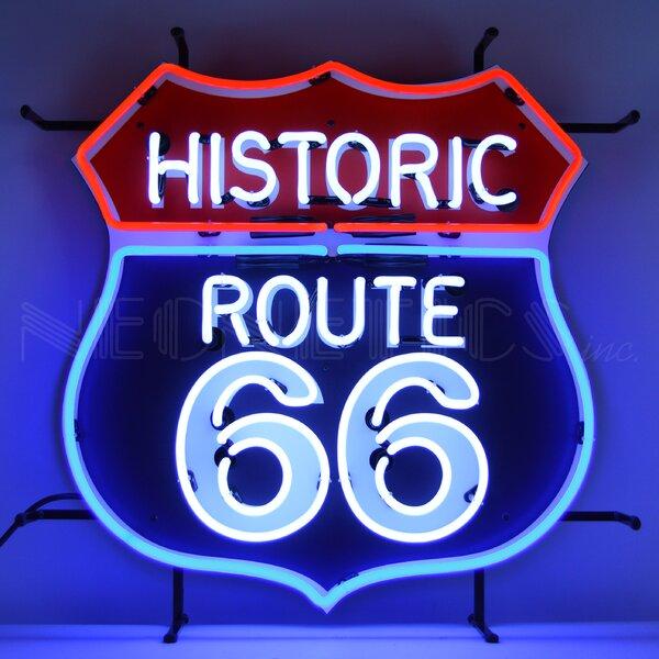 Historic Route 66 Neon Wall Light by Latitude Run