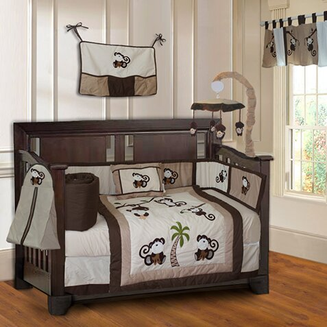 Monkey Baby 10 Piece Crib Bedding Set