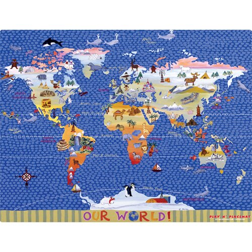 World Map Play Placemat by Magic Slice