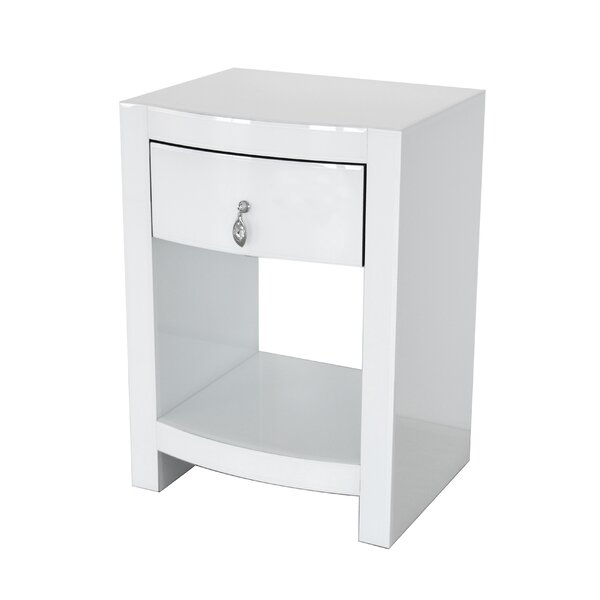 Kamena Curved Nightstand by Rosdorf Park