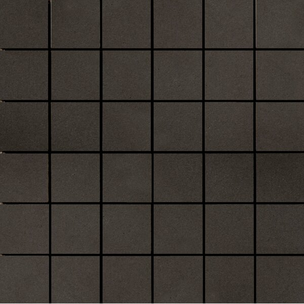 Perspective Pure 12 x 12 Porcelain Mosaic Tile in Charcoal by Emser Tile