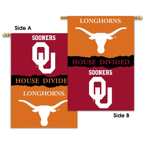 NCAA House Divided 2-Sided Polyester Banner by BSI Products