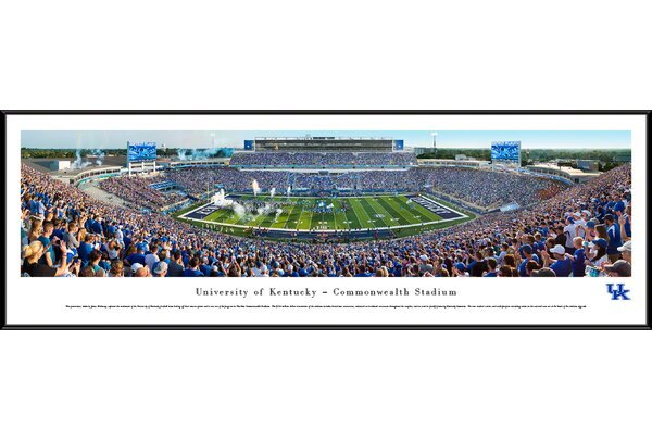 NCAA Kentucky, University of - Football by James Blakeway Framed Photographic Print by Blakeway Worldwide Panoramas, Inc