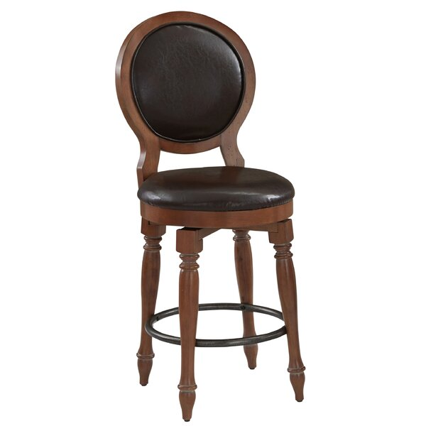 Collette 24 Swivel Bar Stool with Cushion by August Grove