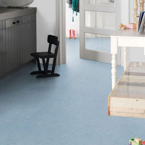 Marmoleum Click Cinch Loc 11.81 x 35.43 x 9.9mm Cork Laminate Flooring in Blue by Forbo