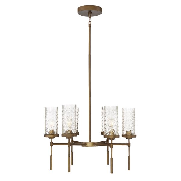 Haleigh 6 - Light Shaded Classic / Traditional Chandelier by Everly Quinn Everly Quinn