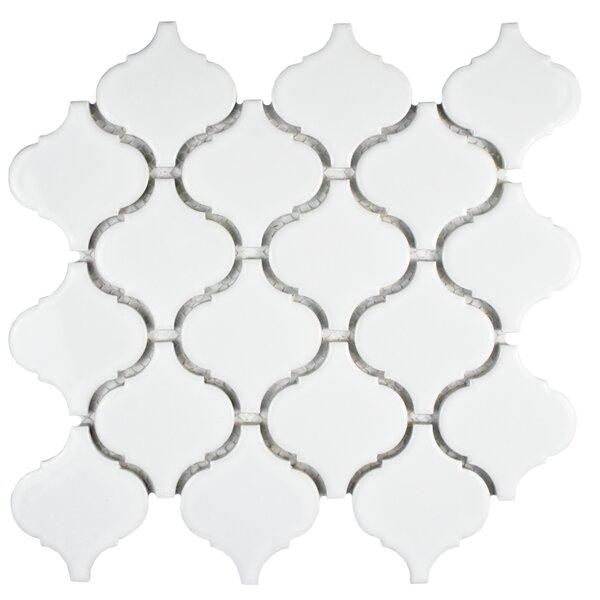 Retro 2.87 x 3.06 Porcelain Lantern Mosaic Tile in Glossy White by EliteTile