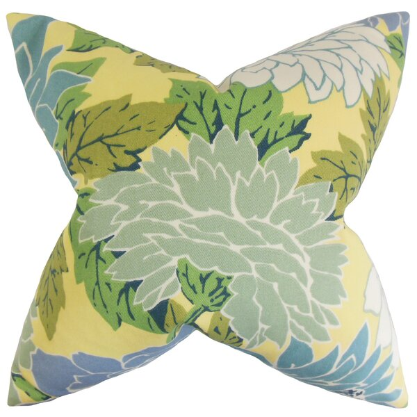 Delaney Floral Throw Pillow by The Pillow Collection