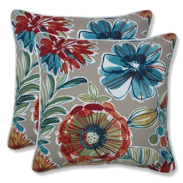 Sisler Indoor/Outdoor Floral Throw Pillow (Set of 2)