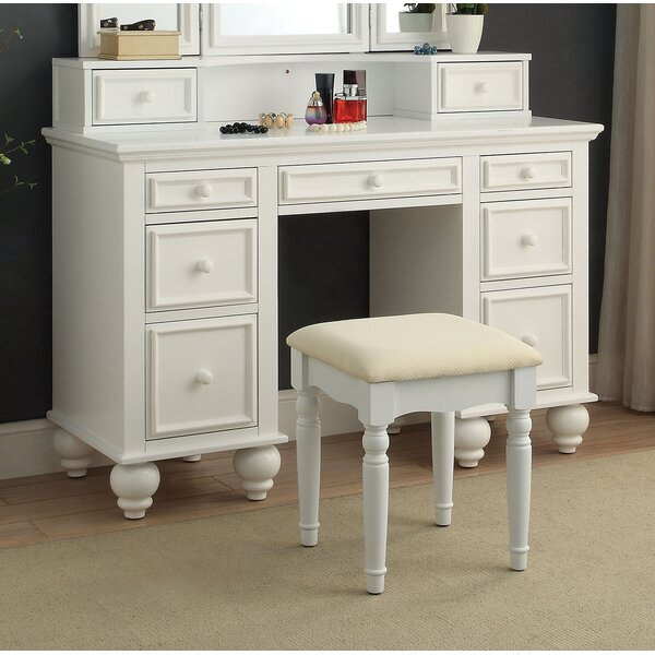 Fortner Vanity Set by Everly Quinn Everly Quinn