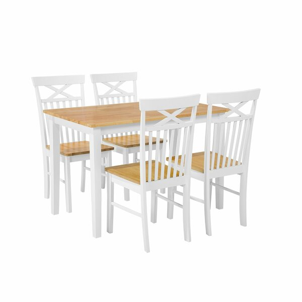 Scurlock 5 Piece Solid Wood Dining Set by August Grove