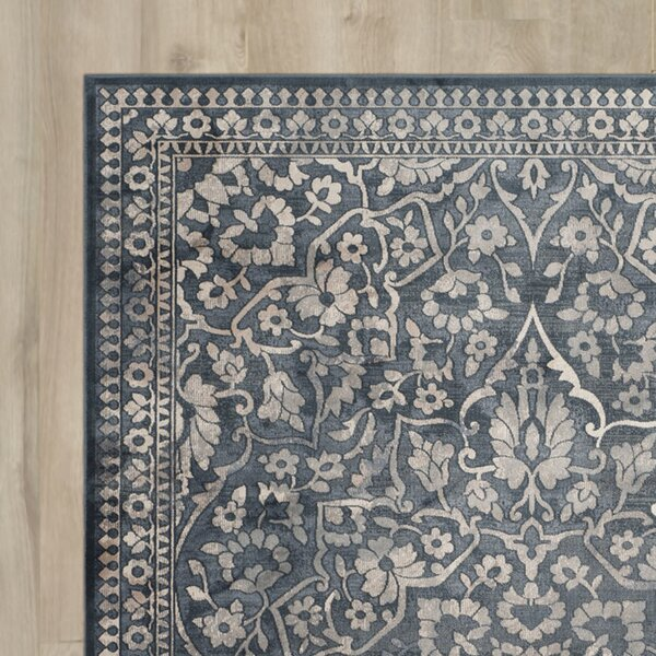 Columbus Blue/Light Gray Area Rug by Charlton Home